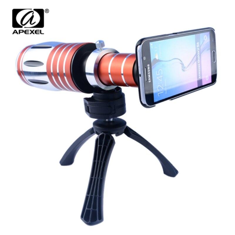Apexel алюминиевый 50X зум объектива телескопа Камера штатив и чехол 50X телеобъектив для <font><b>iPhone</b></font> 6 plus/6/ 5 Samsung S6/S6 край