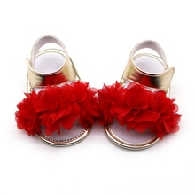0-18M Newborn Sandals Infant Baby Girl Princess Floral Sneakers Toddler Soft Cri