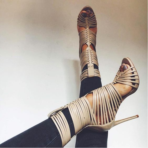 2017 Sexy Strappy Heels Women Peep Toe Sandals Gladiator Style Ladies High Heels Dress Shoes Female Fashion Party Shoes Size 41 fashion hollow out sexy shoes women night club thin high heels sandals gladiator elegant ladies peep toe shoes party footwear