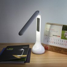 LED Touch Dimmer Desk Lamp USB Rechargeable Student Study Reading Lamp Foldable LED Desk Lamp with Calendar