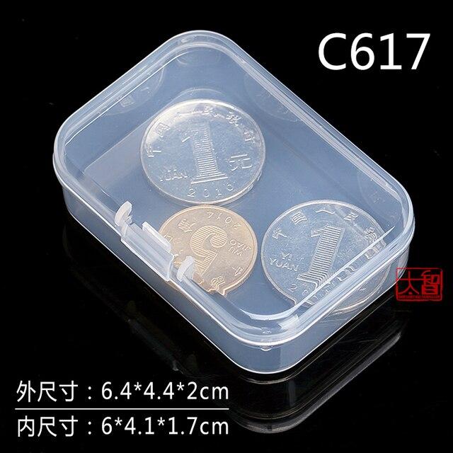 Darmowa wysyłka przezroczyste plastikowe małe kwadratowe pudełka, opakowanie, z pokrywką na pudełko z biżuterią akcesoria wykończenie box