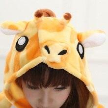 Adult Flannel Giraffe Pajamas Onesies Cosplay Costume Cartoon Kigurimi Animal Long Sleeves Sleepwears Design For Toilet Pyjamas