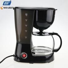 Автоматическая 5 Чашки Эспрессо Электрический Чайник Черный Капельного Кофе-Машина С Окном Воды Высокого Качества кафе Американский 800 Вт
