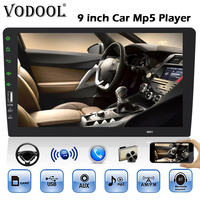 VODOOL 1Din Car Radio 9 Touch Screen Bluetooth Car Stereo MP5 Player FM Radio Autoradio Video Multimedia Player Support AUX USB