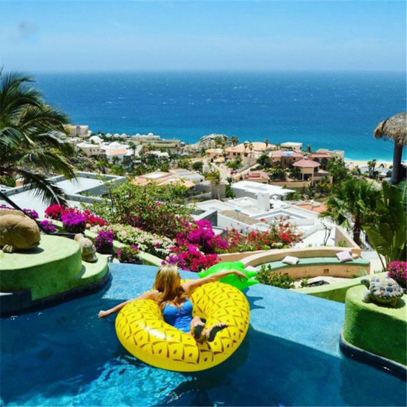 Summer Beach Party Kids Swimming Pool Ring Inflatable Watermelon Pineapple Lemon Swim Ring Adult Fruit Swimming Ring