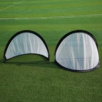 xSoccer Goal Portable Soccer Nets Water Droplets Double Goal with Carry Bag Sizes Practice Train Garden Game Football Door Sets