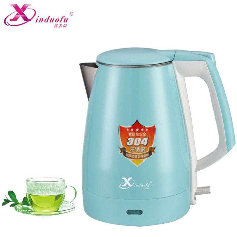 Kettles Electric Kettle Quick Heating Stainless Steel Inwall Safety Auto-Off Function 1500W 1.8L Double layer Anti-scald Kettles free shipping electric kettle automatic power off anti scald stainless steel