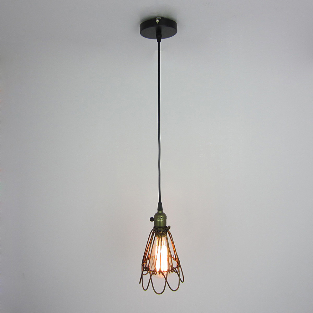 Industrial Vintage Lamp Hanging Holder Pendant Light Home Lighting Fixtures American Aisle Lights Lampade Edison Bulb 110V-220V hot sale edison bulb vintage industrial lighting copper lamp holder pendant light american aisle lights lamp 220v light fixtures