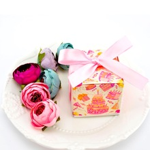 50pcs Birthday candy box Kraft Paper with Twine Bow Pack girl Baby Shower Favors Kids Gifts for Guest