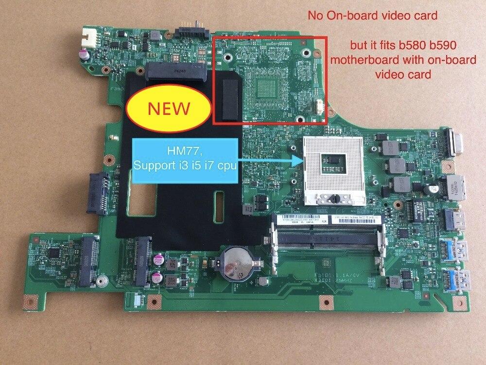 Bilgisayar ve Ofis'ten Anakartlar'de Ücretsiz Kargo YENI HM77 Lenovo B590 B580 V580C 55.4YA01.001 Dizüstü Anakart Anakart title=