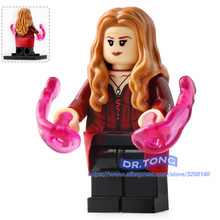 Super Heroes Single Sale Infinity War Avengers 3 Scarlet Witch X Men Thanos Spiderman Building Blocks