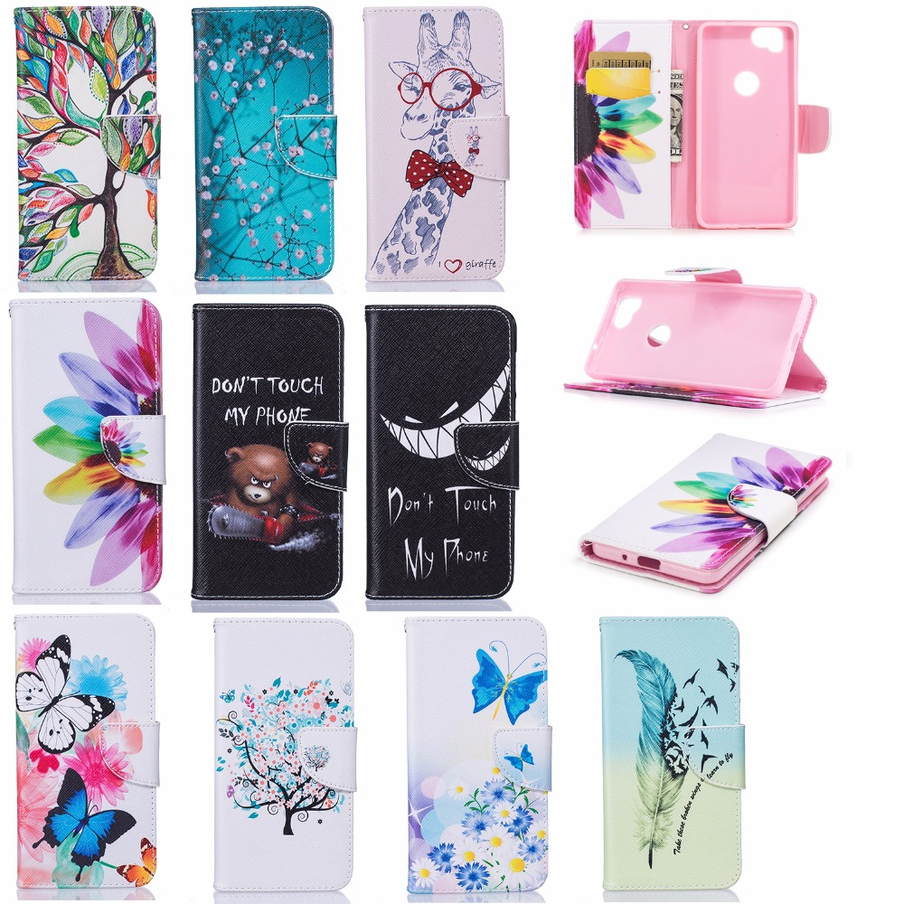 Case For Google Pixel 2 Case Luxury Painted Cartoon Wallet PU Leather Owl Phone Cases For Fundas Google Pixel 2 Case