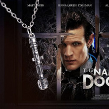 2015 Hot Selling Movie Doctor Who Classic Sonic Screwdriver Pendant Necklace(China)