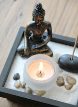 Modern Chinese Wooden Buddha Scented Candles  Bougie Decoration Home Furnishing Decoration  Wax Candles Free Shipping