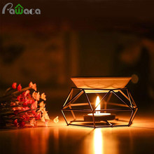 Candle Aromatherapy Aroma Burner Aroma Oil Lamp Furnace Essential Oil Burner Iron Rack Ceramic Tray Crafts Home Decorations(China)