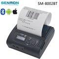 80 мм Bluetooth Термопринтер, USB LCD 80 мм Тепловая Чековый Принтер Bluetooth IOS/Android Переносной Принтер SM--8002BT