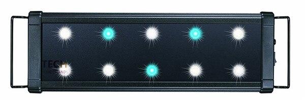 100-240 V EVO18 45-55 cm Aquarium Marine LED éclairage lampe de réservoir de poisson avec supports extensibles 3 W * 7 blanc et 3 W * 3 bleu 1260LM