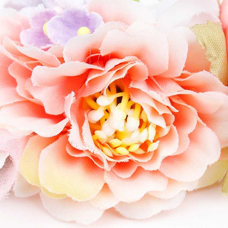 Искусственные цветы оголовье нейлон повязки на голову с красивой розой для детей новорожденных Высокая подвижное украшение для волос аксессуары