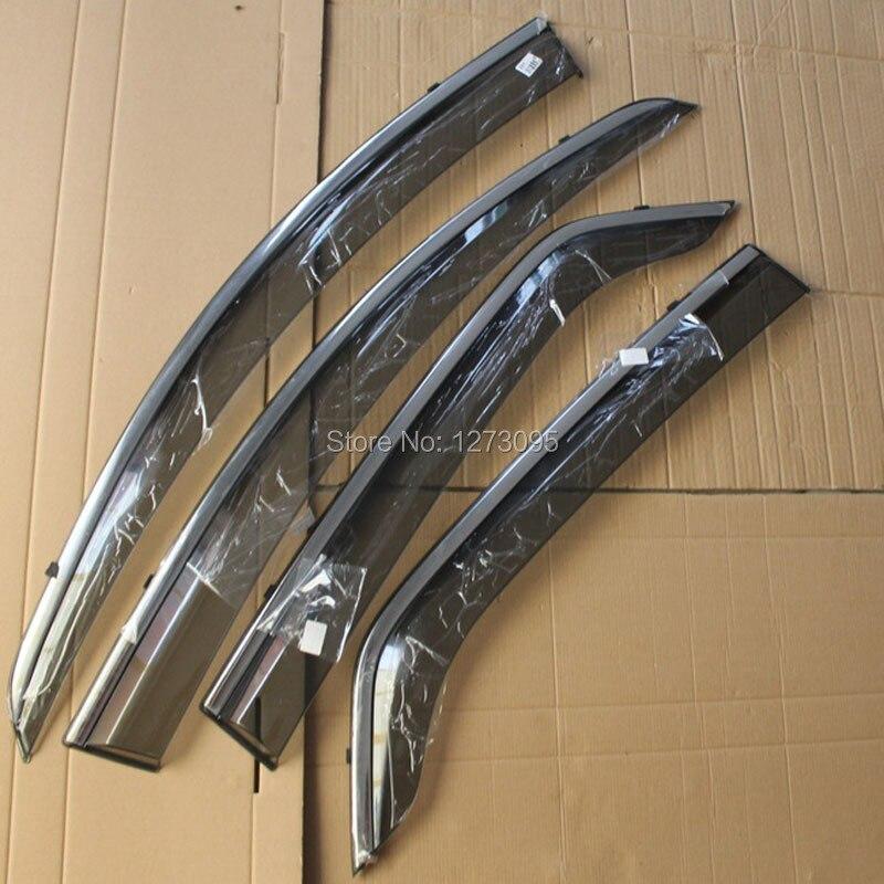 For 2014 Ford Ecosport Window Visor Vent Shades Sun Rain Deflector Guard Awnings Protector