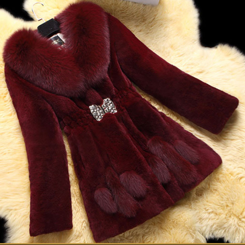 New Fashion Women Fur Coat 2018 Autumn Winter Clothes Elegant High Imitation Rabbit Fur Coats Female Plus Size 6XL LQ211