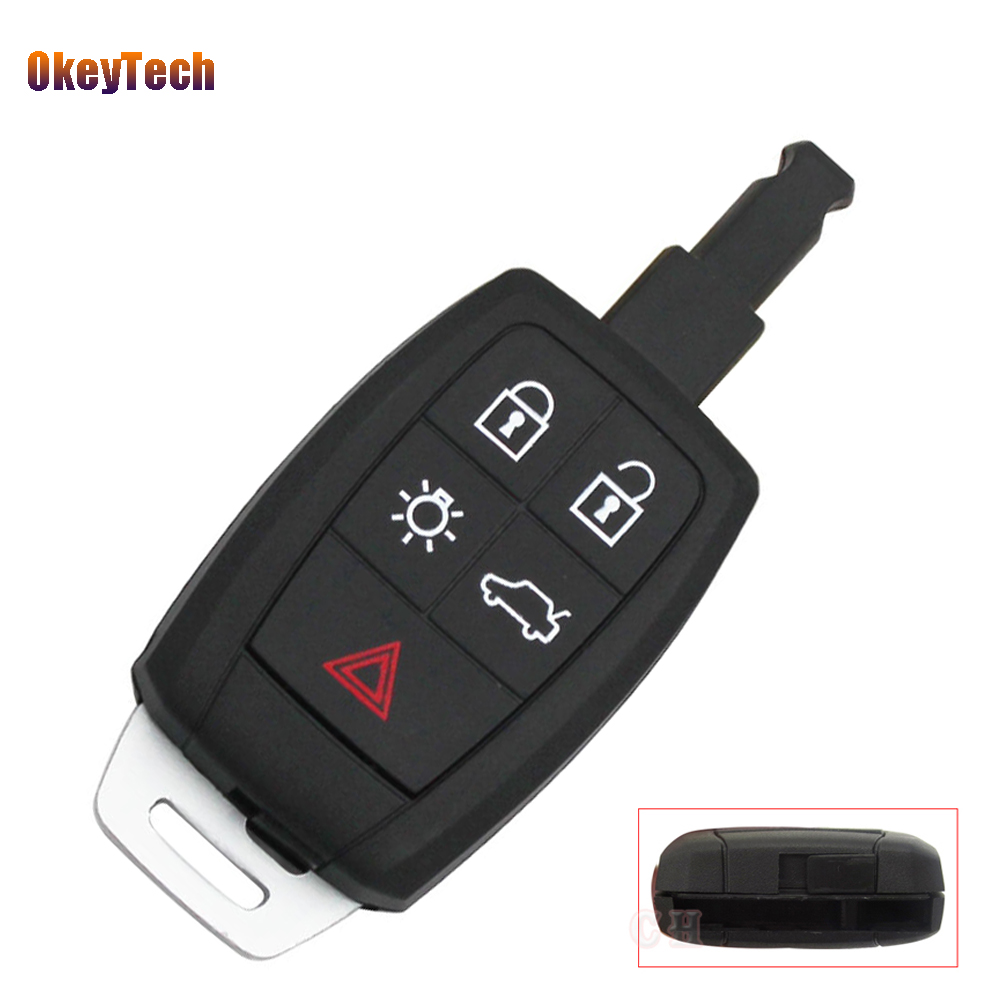 detail feedback questions about okeytech for volvo xc90 c70 s60 d5detail feedback questions about okeytech for volvo xc90 c70 s60 d5 v50 key shell blank fob 5 button remote car key cover case has insert key blade free