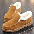 Nueva Moda de Alta Calidad de Los Hombres de Nieve Botas de Invierno Cálido Botas de Piel de Lana Natural Del Tobillo Transpirable Zapatos de Los Hombres