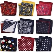 New Arrival 23*23cm Women Cotton Kerchiefs Multi-use Square Hankies Sweat Printed Men Bridegroom Wedding Handkerchief Unisex