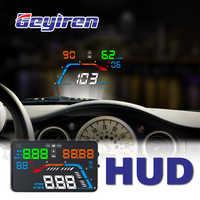 GEYIREN A100S Con Paraluce Q700 Car HUD head up display OBD II EUOBD Parabrezza Proiettore Auto di Elettronica di Meglio di c60 C80