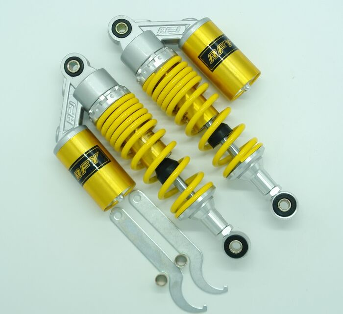 RFY 2PCS New 265mm Suspension Rear Shock Absorber Motorcycle for YAMAHA SUZUKI Silver yellow