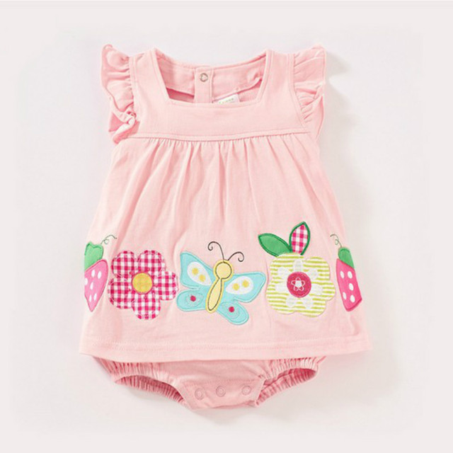 8e98d3bf868a0 New arrival baby girl cute bodysuits summer pullover lovely child one piece  jumpsuit for Newborn to