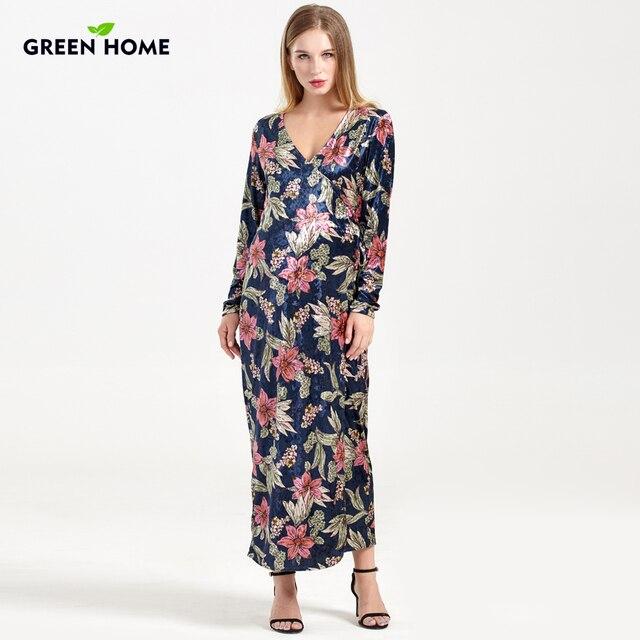 879e23ccd Verde casa Thicken Nursing vestidos maternidad invierno Vneck Floral embarazada  ropa para mujeres embarazadas maternidad fotografía