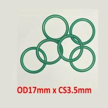 OD17mm x CS3.5mm green viton rubber seal o ring gasket