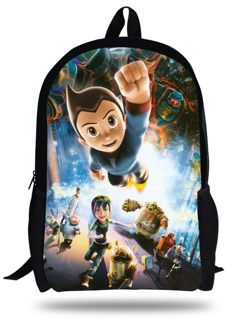 ee5901169dbe 16-inch Mochila School Bag Child Backpack Astro Boy Bag 3D Cartoon Kids Bags  Boys Backpacks For School Bolsa Infantil Menino