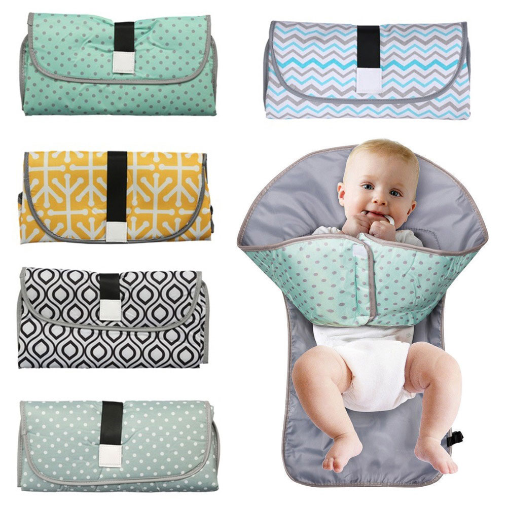 3-in-1 Multifunctional Waterproof Portable Baby Changing Mat Infant Nappy Bag Diaper Changing Cover Pad Travel Outdoor