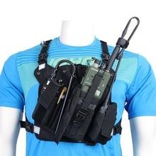 ABBREE Radio Carry Case Chest Harness Pocket Bag Holster for Baofeng UV 5R UV 82 UV 9R TYT TH UV8000D Yaesu Walkie Talkie