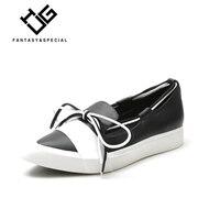 МГС повседневная женская обувь на платформе черного цвета из натуральной кожи британский стиль Лоферы Sapatos Feminino Plataforma обувь для взрослых же
