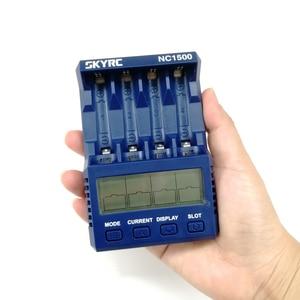 Image 2 - Nouveau SKYRC NC1500 5V 2.1A 4 fentes LCD AA/AAA chargeur de batterie et analyseur NiMH Batteries chargeur décharge et rafraîchissement