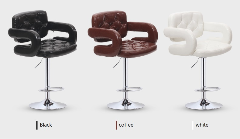 hair salon stool  Barber chair coffee white color free shipping home furniture chair stool retail wholesale north american fashion bar stool barber stool retail and wholesale yellow red orange white black free shipping