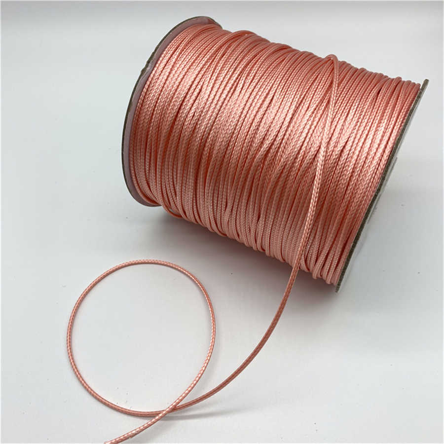0.5mm 0.8mm 1mm 1.5mm 2mm Light pink Waxed Cotton Cord Waxed Thread Cord String Strap Necklace Rope For Jewelry Making