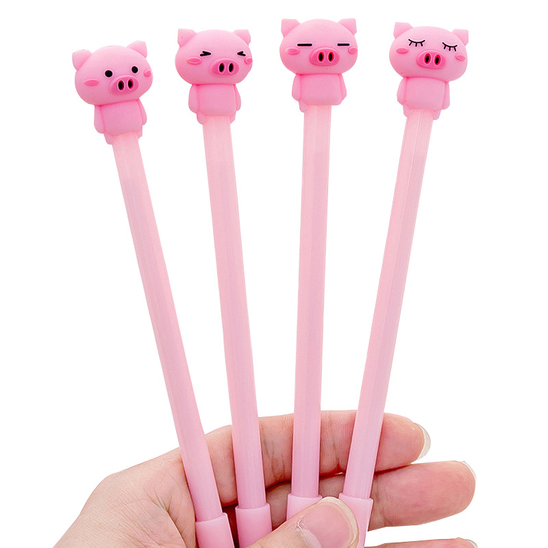 1 Pcs Kawaii Cute Kawaii Pink Pig  Gel Pen 0.38mm Fashion School Office Supply Students Gift Stationery Writing Signature Pen