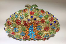 Freies verschiffen!! A16-3, gold farbe mode top kristallsteinen ring handtaschen für damen nette parteibeutel