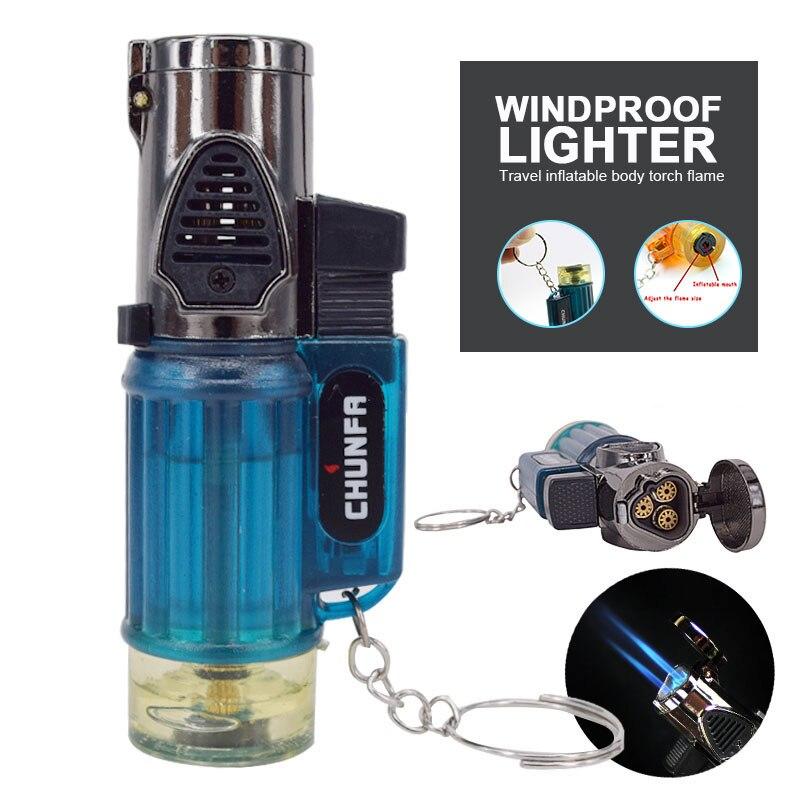 Torch Jet Flame Butane Luxurious Hit Fire Machine Cigarette Lighter Smoking Saft ABS Gift Kitchen Tool Tobacciana