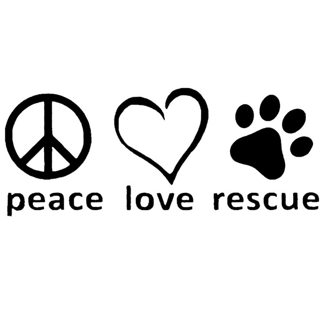 8418688cd53 Wholesale 10pcs lot 20pcs lot Peace Love Rescue Vinyl Decal Car Truck  Sticker Bumper Window Adopt Pitbull Pit