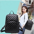 2017 New Hot Backpack Women Quilted Fashion Sheepskin Leather Backpack  For Teenage Girls Shoulder Bags Travel Bag School Bag