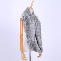 2017 Winter Genuine Real Rabbit Fur Hand Knitting Scarf Scarfs Women S Muffler Wraps Knitted Ring