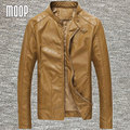 Red/Black/khaki PU leather jacket men alligator motorcycle jacket coat chaqueta moto hombre veste cuir homme cappotto LT084