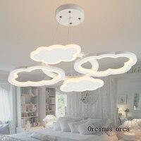 Nordic современный минималистский облако люстра детская комната горит мультфильм творчество светодио дный облако люстра бесплатная доставка
