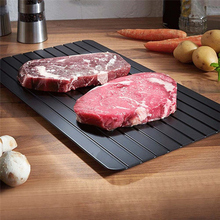 3size Hot selling Fast Defrosting Tray Thaw Frozen Food Meat Fruit Quick Defrosting thawing Plate Board Defrost Kitchen Gadget