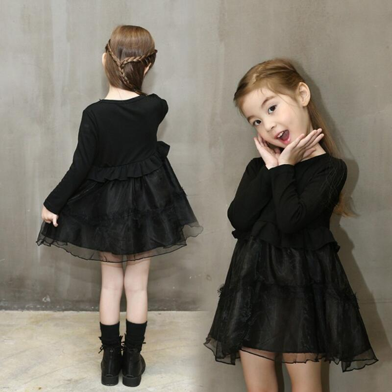 Fashion 2017 Kids Party Long Sleeve Baby Toddler Clothes Girl