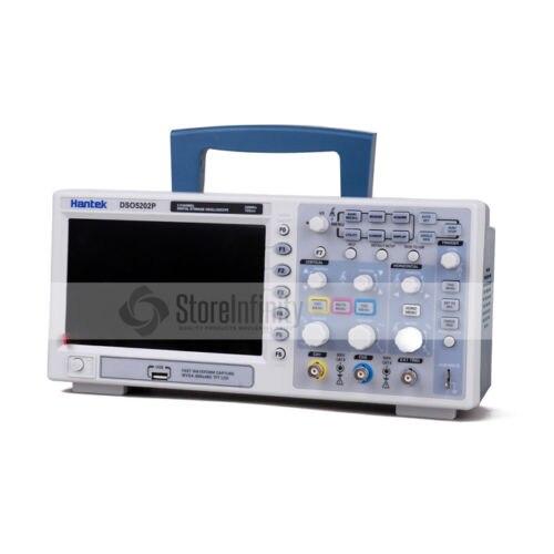 Hantek dso5202p 200 mhz osciloscópio, 2 ch 1gsa/s 7 tft lcd digital de armazenamento